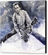 Rock And Roll Music Chuk Berry Canvas Print by Yuriy  Shevchuk