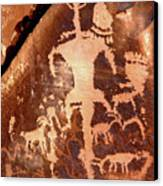 Rock Art Of The Ancients Canvas Print by The Forests Edge Photography - Diane Sandoval