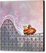 Rocket Me Rollercoaster Canvas Print by Dennis Wunsch