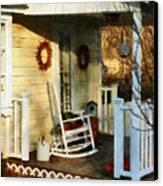 Rocking Chair On Side Porch Canvas Print by Susan Savad