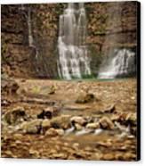 Rocks And Waterfalls Canvas Print by Iris Greenwell