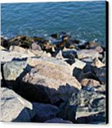 Rocky Water Canvas Print by Extrospection Art