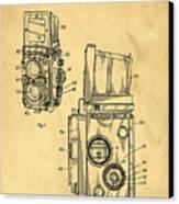 Rolleiflex Medium Format Twin Lens Reflex Tlr Patent Canvas Print by Edward Fielding