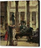 Roman Art Lover Canvas Print by Sir Lawrence Alma-Tadema
