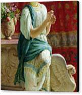 Roman Girl Canvas Print by Guglielmo Zocchi