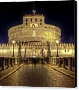 Rome Castel Sant Angelo Canvas Print by Joana Kruse
