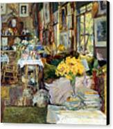 Room Of Flowers, 1894 Canvas Print by Granger