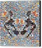 Rorschach Inkblot Card Three Canvas Print by Boy Sees Hearts