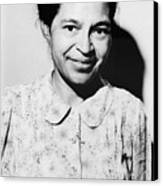Rosa Parks Was A Member Of The Naacp Canvas Print by Everett