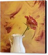 Rose In A Pitcher Canvas Print by Marsha Heiken