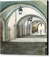 Rothenburg Backstreet Canvas Print by Sam Sidders