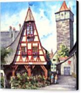 Rothenburg Memories Canvas Print by Sam Sidders
