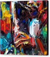 Round Midnight Canvas Print by Debra Hurd