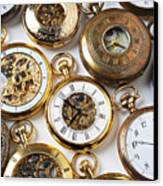 Rows Of Pocket Watches Canvas Print by Garry Gay
