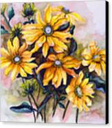 Rudbeckia  Prairie Sun Canvas Print by Karin  Dawn Kelshall- Best