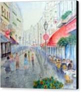 Rue Montorgueil Paris Right Bank Canvas Print by Dan Bozich