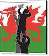 Rugby Wales Canvas Print by Aloysius Patrimonio