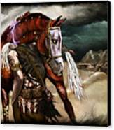 Ruined Empires - Skin Horse  Canvas Print by Mandem