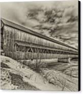 Rusagonish Covered Bridge Canvas Print by Jason Bennett