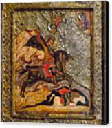 Russian Icon: Demetrius Canvas Print by Granger