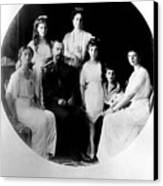 Russian Royal Family Left To Right Canvas Print by Everett