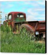 Rusted Not Retired Canvas Print by Colleen Taylor