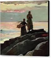 Saco Bay Canvas Print by Winslow Homer
