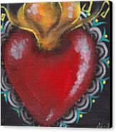 Sagrado Corazon 1 Canvas Print by  Abril Andrade Griffith