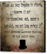 Said Abraham Lincoln Canvas Print by Cinema Photography