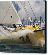 Sailboat Le Pingouin Open 60 Charging  Canvas Print by Dustin K Ryan