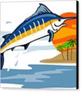 Sailfish Island Canvas Print by Aloysius Patrimonio