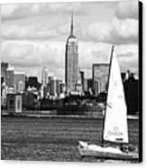 Sailing The New York Harbor Canvas Print by John Rizzuto
