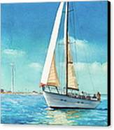 Sailing Through The Gut Canvas Print by Laura Lee Zanghetti