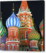 Saint Basils Cathedral On Red Square, Moscow Canvas Print by Lars Ruecker