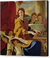 Saint Cecilia Canvas Print by Nicolas Poussin
