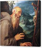 Saint Francis Canvas Print by Munir Alawi
