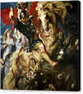 Saint George And The Dragon Canvas Print by Peter Paul Rubens