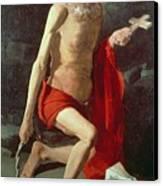 Saint Jerome Canvas Print by Georges de la Tour