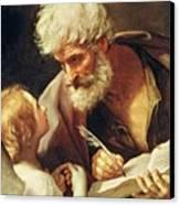 Saint Matthew Canvas Print by Guido Reni