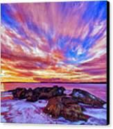 Salmon Sunrise Canvas Print by Bill Caldwell -        ABeautifulSky Photography