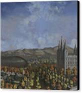 Salt Lake City Temple Square Nineteen Twelve  Canvas Print by Jeff Brimley