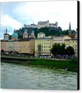 Salzburg Over The Danube Canvas Print by Carol Groenen