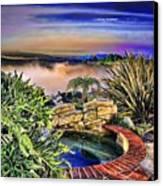 San Clemente Estate Canvas Print by Kathy Tarochione