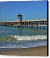 San Clemente Pier Canvas Print by Tommy Anderson