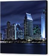 San Diego Skyline At Night Canvas Print by Larry Marshall