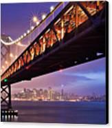 San Francisco Bay Bridge Canvas Print by Photo by Mike Shaw
