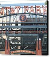 San Francisco Giants Att Park Willie Mays Entrance . 7d7635 Canvas Print by Wingsdomain Art and Photography