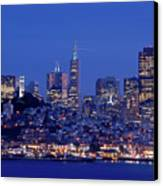 San Francisco Skyline At Dusk Canvas Print by David Rout