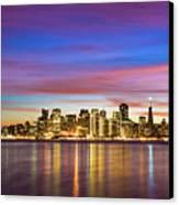 San Francisco Sunset Canvas Print by Photo by Alex Zyuzikov
