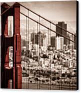 San Francisco Through The Bridge Canvas Print by Matt  Trimble